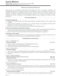 Sample General Manager Resume General Resume Sample Mazard Info