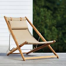 Adjustable Outdoor Sling Chair In Natural | Ihland Collection