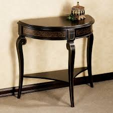 round foyer entry tables. Furniture:Licious Black Half Moon Entry Table Best Decoration Small Shaped Tables Glass Cappuccino Finish Round Foyer