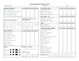 Printable Progress Reports For Elementary Students Preschool Progress Report Template