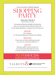 talbots spring shopping party dress for success tampa bay talbots spring shopping party