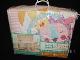 kidsline day at the circus collection 4 pc crib bedding set new