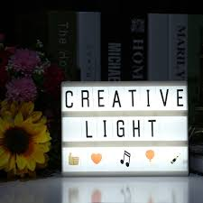 diy cinema letters led light box night lamp a5 size battery powered led lighting box with letters for kids children good gift