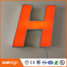 lighted letter signs. Outdoor Decorative Led Lighted Letter Illuminated Advertising Sign Face Lit Acrylic Letters Signs G