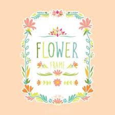 frame design flower. frame design flower