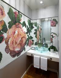 Decorating Tiles Crafts CoolMosaicTileCraftsDecoratingIdeasImagesinBathroom 11