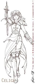 Small Picture female anime warrior Coloring Pages People Pinterest Anime