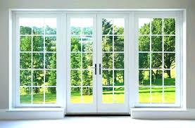 replace sliding glass door with french ment