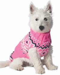 Pink Nordic Wool Dog Sweater