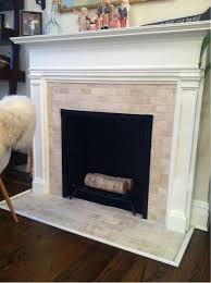 Tile Fireplace Makeover Our 200 Fireplace Makeover Marble Tile A New Mantel Marble