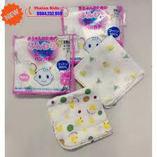 Túi 10 khăn sữa xô Nhật có hình siêu thấm cho bé đồ sơ sinh