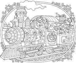 Christmas train coloring page from christmas decoration category. Raskraski Antistress Art Vdohnovenie Hobbi Free Christmas Coloring Pages Train Coloring Pages Christmas Coloring Books