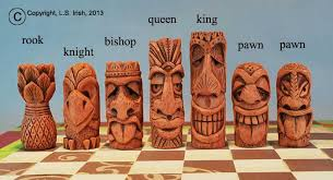 Wood Carving For Beginners Free Patterns Magnificent Tiki Chess Set Beginner's Wood Carving Project By Lora S Irish