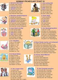 best language german iuml pound ordf images german words german vocabulary part 3