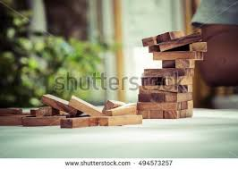 Game Played With Wooden Blocks Collapse Motion Wood Blocks Stack Game Stock Photo 100 99