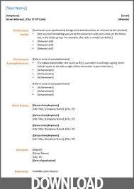 Simple Resume Format Download In Ms Word 2007 Meigenn Com