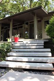 Floating Staircase - Floating Concrete Steps - Dallas, TX modern-landscape