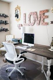 chic office decor. Exellent Chic Ashlee S Shabby Chic Office Apartment Therapy Regarding Desk Decor 5 Intended C