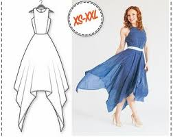 Dress Sewing Patterns Enchanting Maxi Dress Pattern Etsy