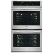 frigidaire gallery 27 in double electric wall oven self cleaning with convection in stainless