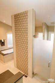 glass door to replace wood door contemporary bath