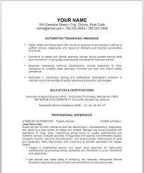Automotive Technician Resume Unique Auto Body Technician Resume Inspirational Automotive Technician
