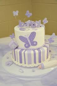 Purple Butterfly Baby Shower Cake Very Cute And I Love Purple