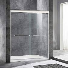 double sliding frameless shower door