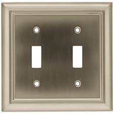 switch plate covers. Simple Plate BRAINERD 64208 Architectural Double Toggle Switch Wall Plate   Cover Satin Nickel  Nickel Amazoncom To Covers F