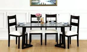 208076 inch wooden glass top 6 seater dining tables rs 38000 set glass top dining table