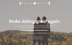 Screengrab of Maple Match  a new dating site offering to connect Americans with Canadians  Global News