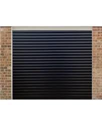black garage doorRoller Shutter Garage Door in Black  Value Doors UK