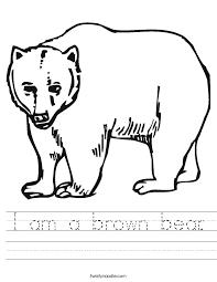 I am a brown bear Worksheet - Twisty Noodle