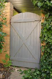 gate 1 entry gate to garden hinges moved from original side hence the