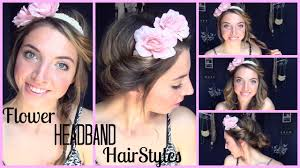 Headband Hair Style flower headband hairstyles youtube 4828 by wearticles.com