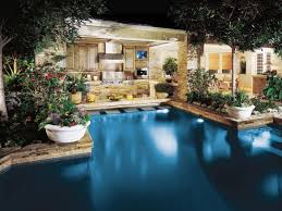Optimizing An Outdoor Kitchen Layout HGTV - Outdoor kitchen designs with pool