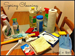 cleaning supplies list frugal thrifty spring cleaning supply list