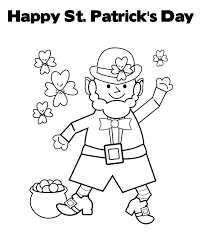 Small Picture St Patricks Day Face Coloring Page Coloring Book