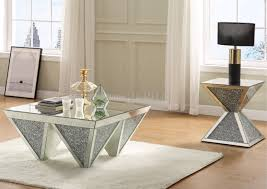 Add to compare compare now. Noralie Coffee Table 84900 In Mirror Faux Crystals By Acme