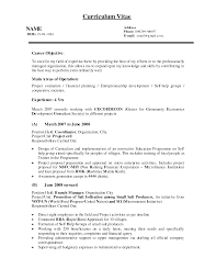 Objective In Resume For Business Administration Resume For Your