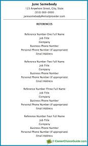 Job Reference Sheet Format Resume Reference Page Setup Tips Template Reference Page