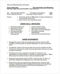Sales Resume Format Good Resume Samples For Sales And Marketing