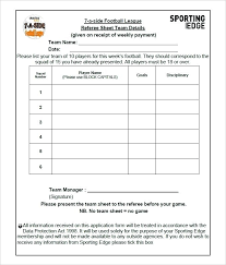 Membership List Template Team Snack List Template Football Sheet Download Skincense Co
