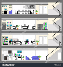 office plan interiors. Cutaway Office Building With Interior Design Plan Detailed Save To A Lightbox Interiors