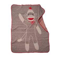 sock monkey blanket socks monkeys blankets ss recycled reclaimed materials uncommongoods