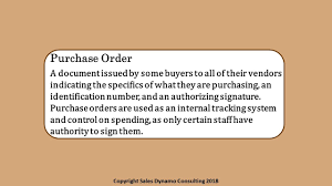 Purchase Order Tracking System Purchase Order Sales Definition Sales Dictionary