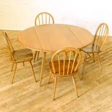 Drop Leaf Kitchen Table Chairs A 1960s Ercol Dining Suite With A Drop Leaf Dining Table And A