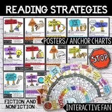 Anchor Charts For Reading Reading Strategies Posters Anchor Charts And Interactive Fan