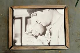 framed photo canvas walnut canvas frame part 3 canvas picture frames diy