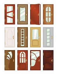 Download Set Of Different Types Of Doors. Stock Illustration - Illustration  of flat, front